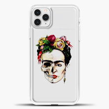 Load image into Gallery viewer, Frida Kahlo Skull iPhone 11 Pro Case, White Plastic Case | casedilegna.com