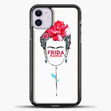 Load image into Gallery viewer, Frida Kahlo White Wallpaper iPhone 11 Case, Black Plastic Case | casedilegna.com