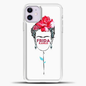 Frida Kahlo White Wallpaper iPhone 11 Case, White Plastic Case | casedilegna.com