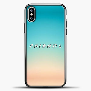 Friends Blue Gradient Background iPhone XS Max Case, Black Plastic Case | casedilegna.com