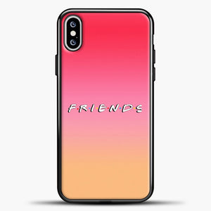 Friends Gradient Background iPhone XS Max Case, Black Plastic Case | casedilegna.com