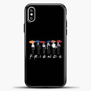 Friends People Carry Umbrellas iPhone XS Max Case, Black Plastic Case | casedilegna.com