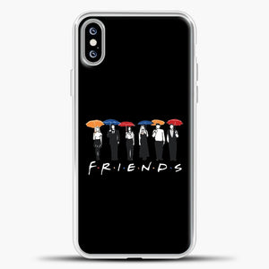 Friends People Carry Umbrellas iPhone XS Max Case, White Plastic Case | casedilegna.com