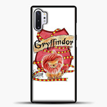 Load image into Gallery viewer, Gryffindor Cute Logo Samsung Galaxy Note 10 Plus Case, Black Plastic Case | casedilegna.com