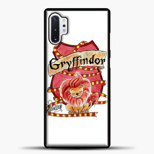 Gryffindor Cute Logo Samsung Galaxy Note 10 Plus Case, Black Plastic Case | casedilegna.com