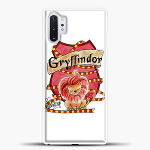 Gryffindor Cute Logo Samsung Galaxy Note 10 Plus Case, White Plastic Case | casedilegna.com