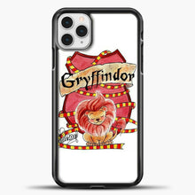 Load image into Gallery viewer, Gryffindor Cute Logo iPhone 11 Pro Case, Black Plastic Case | casedilegna.com