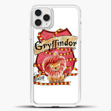 Load image into Gallery viewer, Gryffindor Cute Logo iPhone 11 Pro Case, White Plastic Case | casedilegna.com
