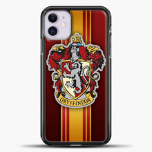 Load image into Gallery viewer, Gryffindor Logo Red iPhone 11 Case, Black Plastic Case | casedilegna.com