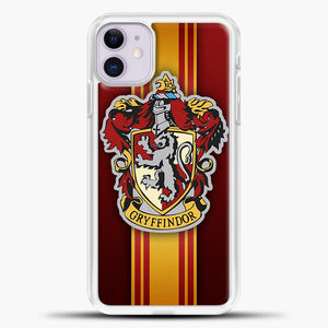 Gryffindor Logo Red iPhone 11 Case, White Plastic Case | casedilegna.com