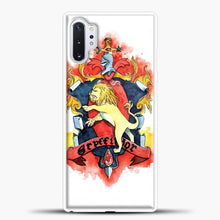 Load image into Gallery viewer, Gryffindor Logo Watercolor Samsung Galaxy Note 10 Plus Case, White Plastic Case | casedilegna.com