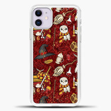 Load image into Gallery viewer, Gryffindor Maroon Pattern iPhone 11 Case, White Plastic Case | casedilegna.com