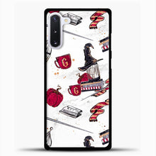 Load image into Gallery viewer, Gryffindor Pattern Red White Samsung Galaxy Note 10 Case, Black Plastic Case | casedilegna.com