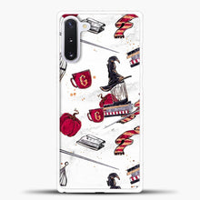 Load image into Gallery viewer, Gryffindor Pattern Red White Samsung Galaxy Note 10 Case, White Plastic Case | casedilegna.com