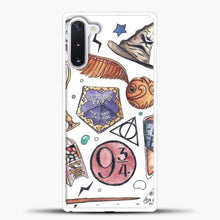 Load image into Gallery viewer, Gryffindor Watercolor Samsung Galaxy Note 10 Case, White Plastic Case | casedilegna.com
