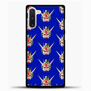 Gundam Face Pattern Samsung Galaxy Note 10 Case, Black Plastic Case | casedilegna.com