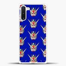Load image into Gallery viewer, Gundam Face Pattern Samsung Galaxy Note 10 Case, White Plastic Case | casedilegna.com