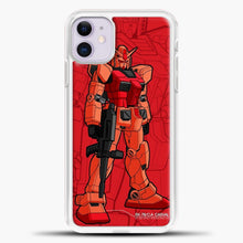 Load image into Gallery viewer, Gundam RX 78 Casval iPhone 11 Case, White Plastic Case | casedilegna.com