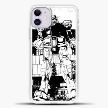 Load image into Gallery viewer, Gundam Silhouette iPhone 11 Case, White Plastic Case | casedilegna.com