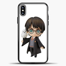 Load image into Gallery viewer, Harry Potter And Owl iPhone XS Max Case, Black Plastic Case | casedilegna.com