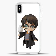 Load image into Gallery viewer, Harry Potter And Owl iPhone XS Max Case, White Plastic Case | casedilegna.com