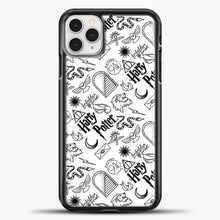 Load image into Gallery viewer, Harry Potter Black White iPhone 11 Pro Case, Black Plastic Case | casedilegna.com