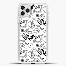 Load image into Gallery viewer, Harry Potter Black White iPhone 11 Pro Case, White Plastic Case | casedilegna.com