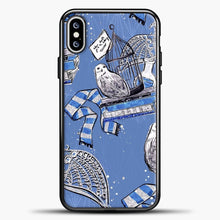 Load image into Gallery viewer, Harry Potter Blue Background iPhone XS Max Case, Black Plastic Case | casedilegna.com