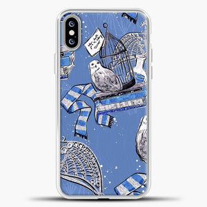 Harry Potter Blue Background iPhone XS Max Case, White Plastic Case | casedilegna.com