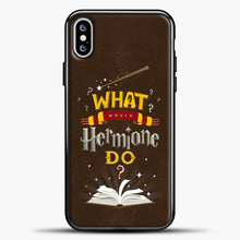 Load image into Gallery viewer, Harry Potter Chocolate Background iPhone XS Max Case, Black Plastic Case | casedilegna.com