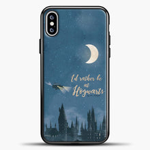 Load image into Gallery viewer, Harry Potter Fliying Car iPhone XS Max Case, Black Plastic Case | casedilegna.com