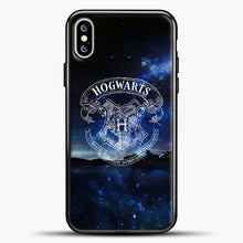 Load image into Gallery viewer, Harry Potter Galaxy Background iPhone XS Max Case, Black Plastic Case | casedilegna.com