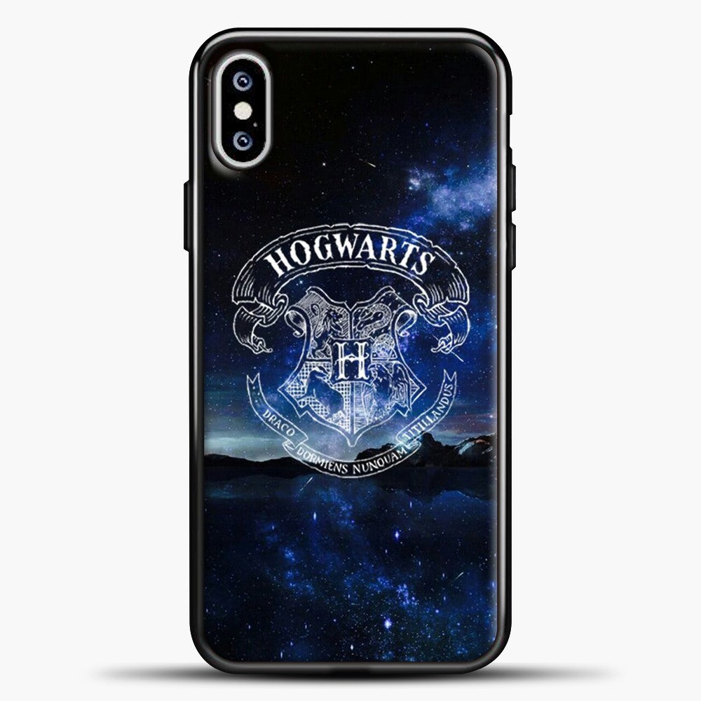 Harry Potter Galaxy Background iPhone XS Max Case, Black Plastic Case | casedilegna.com