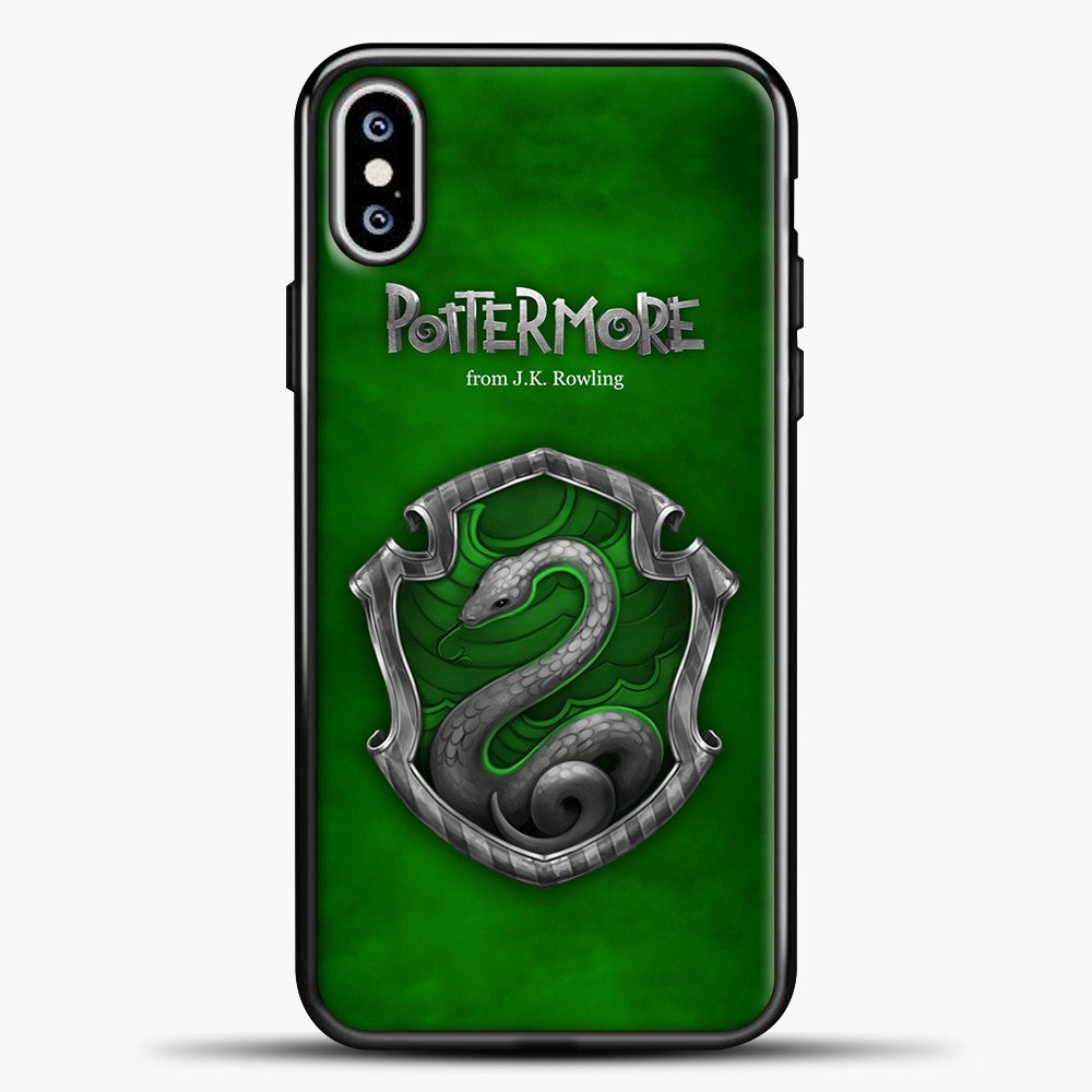Harry Potter Green Background iPhone XS Max Case, Black Plastic Case | casedilegna.com