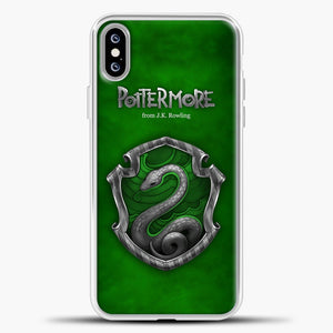 Harry Potter Green Background iPhone XS Max Case, White Plastic Case | casedilegna.com