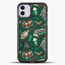Load image into Gallery viewer, Harry Potter Green iPhone 11 Case, Black Plastic Case | casedilegna.com