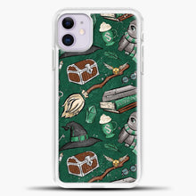 Load image into Gallery viewer, Harry Potter Green iPhone 11 Case, White Plastic Case | casedilegna.com