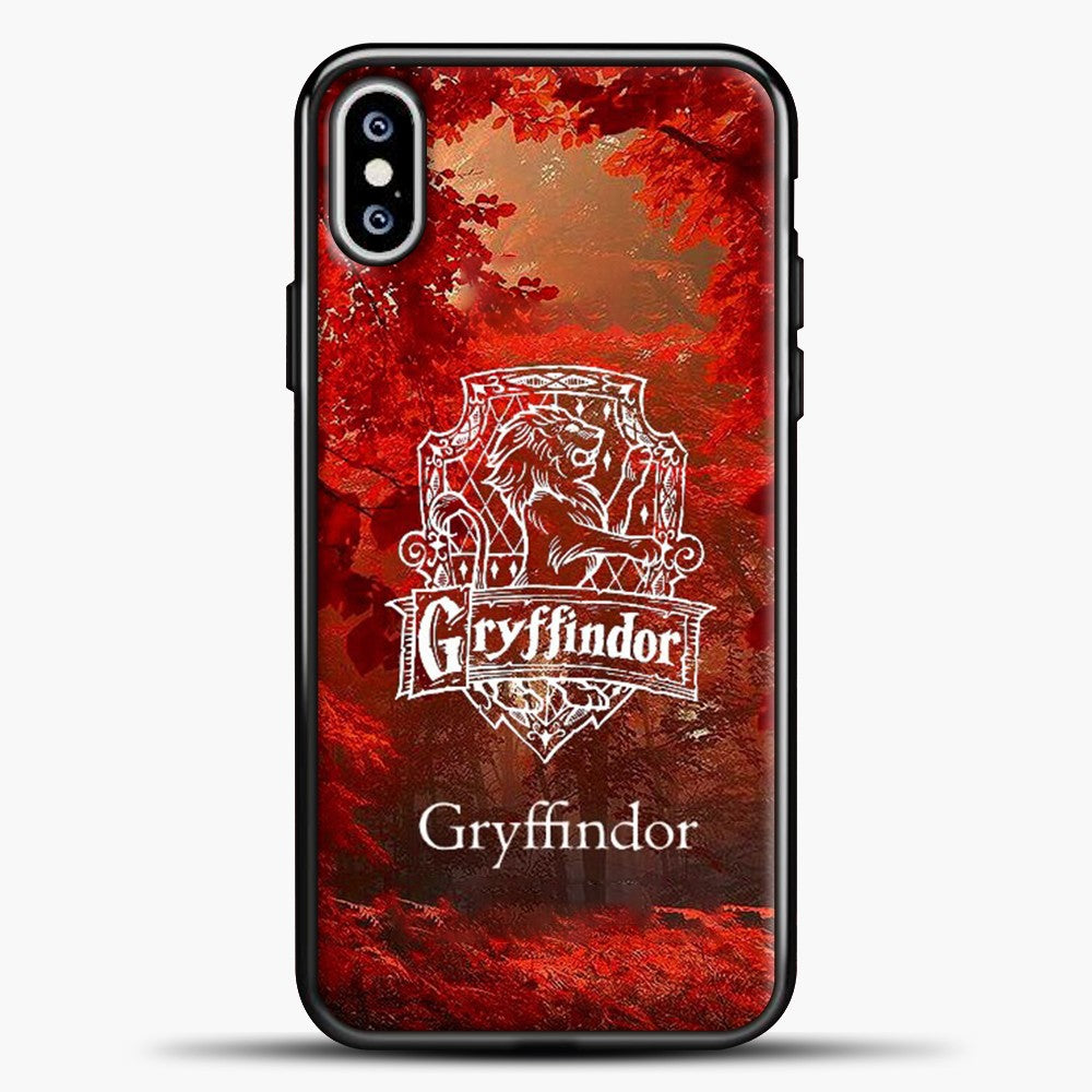 Harry Potter Gryffindor Red Tree iPhone XS Max Case, Black Plastic Case | casedilegna.com