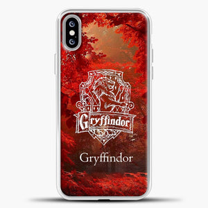Harry Potter Gryffindor Red Tree iPhone XS Max Case, White Plastic Case | casedilegna.com