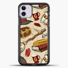 Load image into Gallery viewer, Harry Potter Gryffindor iPhone 11 Case, Black Plastic Case | casedilegna.com