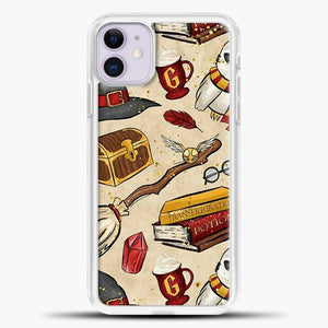 Harry Potter Gryffindor iPhone 11 Case, White Plastic Case | casedilegna.com