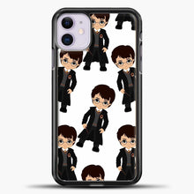 Load image into Gallery viewer, Harry Potter Kawaii iPhone 11 Case, Black Plastic Case | casedilegna.com