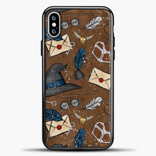 Load image into Gallery viewer, Harry Potter Old Paper Background iPhone XS Max Case, Black Plastic Case | casedilegna.com