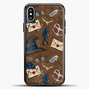 Harry Potter Old Paper Background iPhone XS Max Case, Black Plastic Case | casedilegna.com