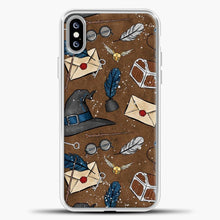 Load image into Gallery viewer, Harry Potter Old Paper Background iPhone XS Max Case, White Plastic Case | casedilegna.com