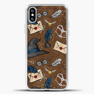 Harry Potter Old Paper Background iPhone XS Max Case, White Plastic Case | casedilegna.com