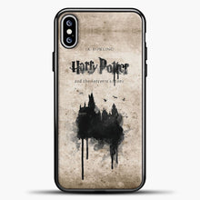 Load image into Gallery viewer, Harry Potter Old Paper iPhone XS Max Case, Black Plastic Case | casedilegna.com