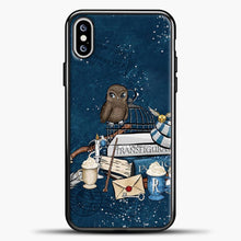 Load image into Gallery viewer, Harry Potter Owl iPhone XS Max Case, Black Plastic Case | casedilegna.com