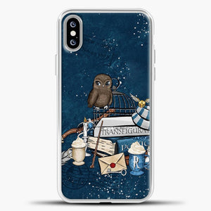 Harry Potter Owl iPhone XS Max Case, White Plastic Case | casedilegna.com