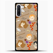 Load image into Gallery viewer, Harry Potter Pattern And Friend Samsung Galaxy Note 10 Case, Black Plastic Case | casedilegna.com